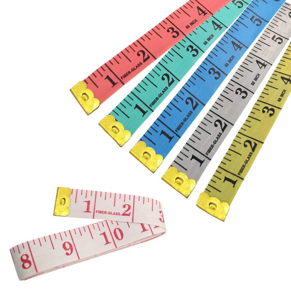 6 Farben SourceTon Weiches Ma/ßband und handlicher Nahttrenner flexibles Lineal Ma/ßband 150 cm /& 4 St/ück Nahttrenner Maschenentferner