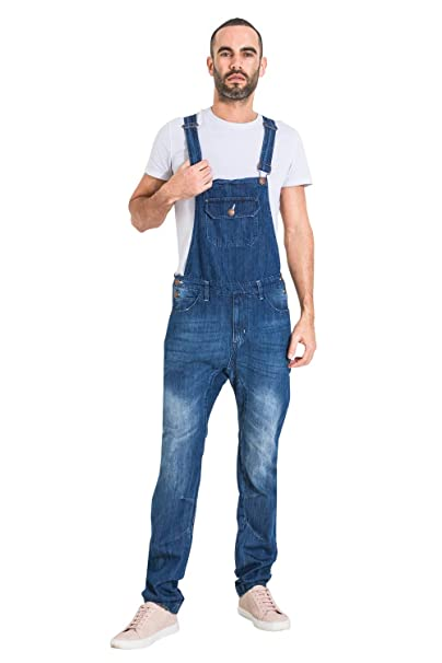 attractive & durable popular design new Uskees Jesse Slim Fit Mens Dungarees - Indigo Denim Overalls Slim Leg  JESSEINDIGO