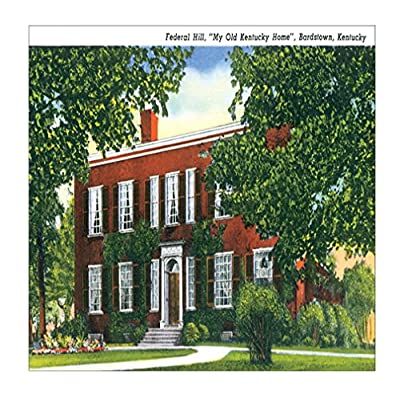 Federal Hill, Bardstown, Kentucky Sandstone Coasters Square Set of 4