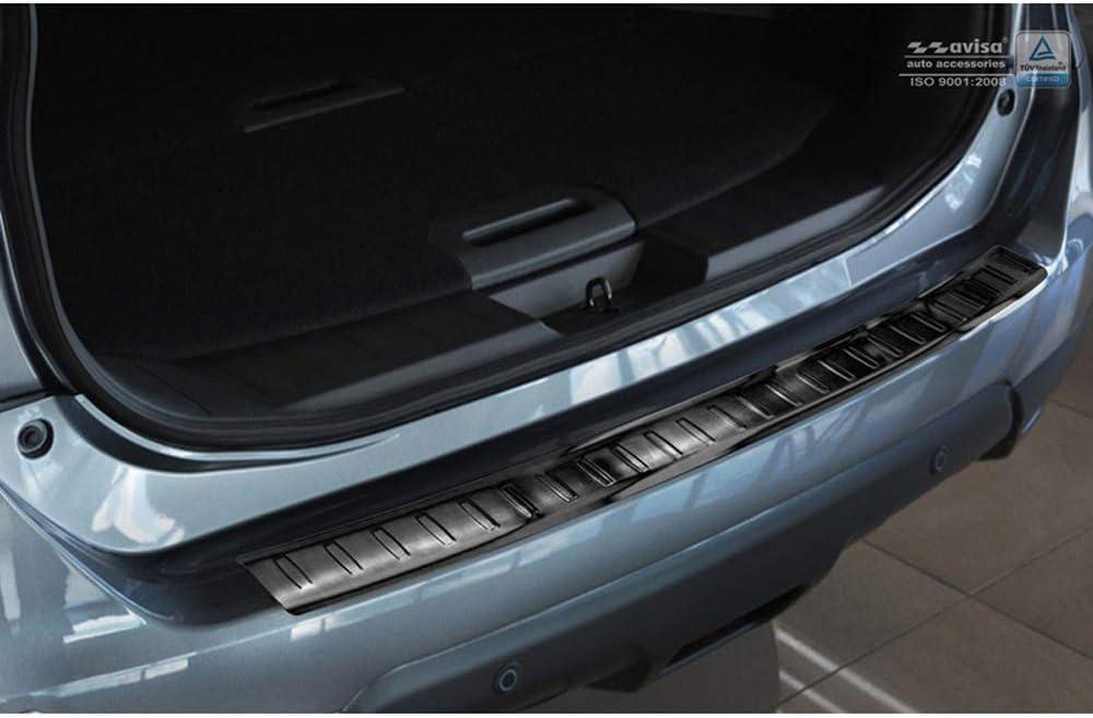 Avisa 2//45133 Protection de seuil arri/ère INOX Noir Nissan X-Trail III 2014-2017 7-Personnes Ribs