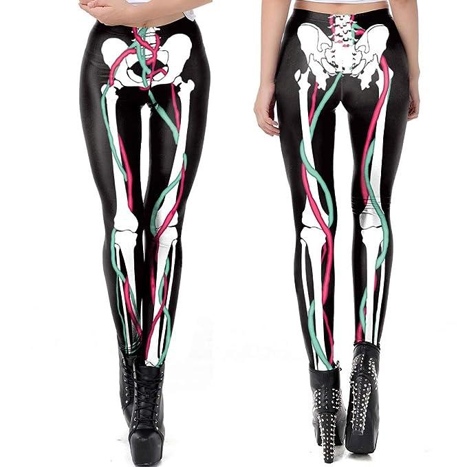 MOVERV-Pantalones De Yoga para Mujer, Esqueleto Humano ...