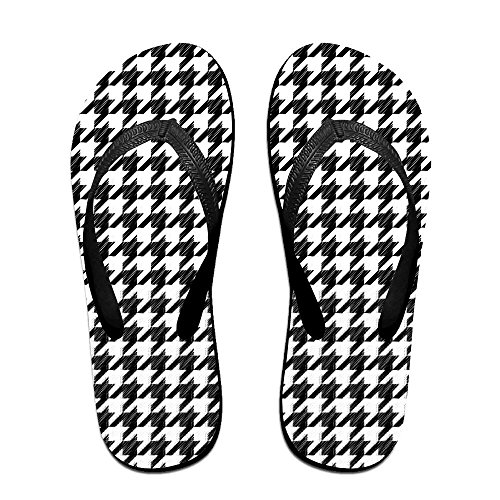 Houndstooth Pattern Unisex Thong Fit Flip-flops Stylish Bathing Classical Great For Women & Men Indoor & Outdoor