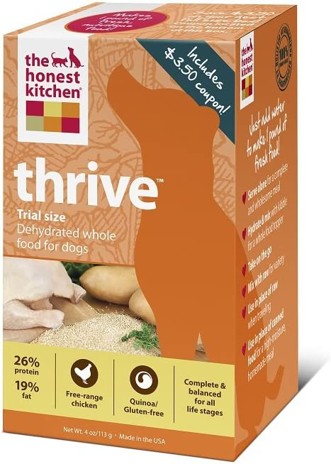 The Honest Kitchen Thrive Gluten-Free Dog Food, 4-Ounce Trial
