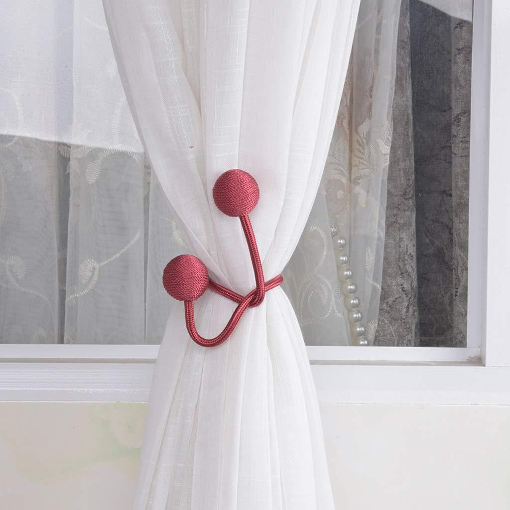 perfeclan Embrasse Rideau /épaisseurs de Rideaux Clips Boucles Retenue moustiquaire Rose