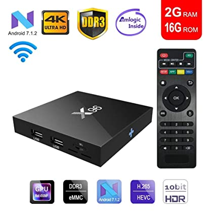 X96 Smart Quad Core H.265 VP9 Android 7.1 TV Box Amlogic S905W 8GB HD DLNA WiFi
