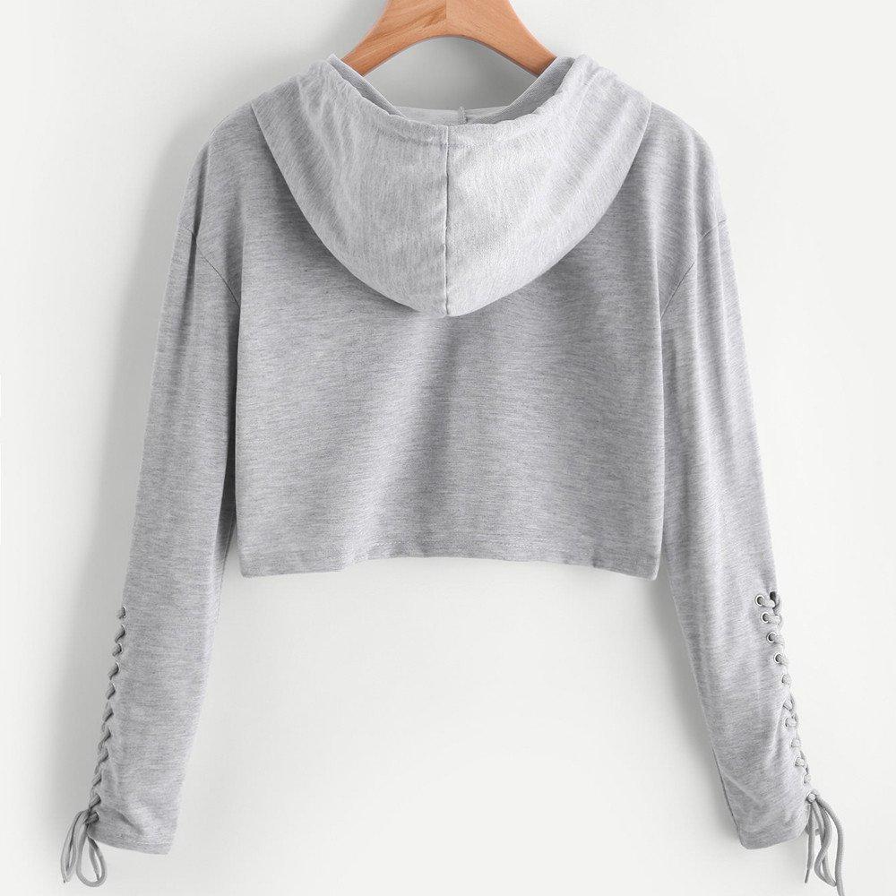 Amazon.com: Sinfu Clearance! Women Hoodie Sweatshirt Jumper Sweater Crop Top Coat Sports Pullover Tops: Clothing
