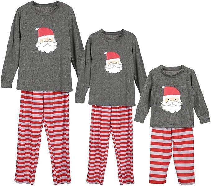 amropi Pijama de Navidad Familia Conjunto Manga Larga Camiseta y Raya Pantalones Ropa de Dormir Mujer Hombre Niños(Raya Gris, Hombre 3XL): Amazon.es: Ropa y accesorios