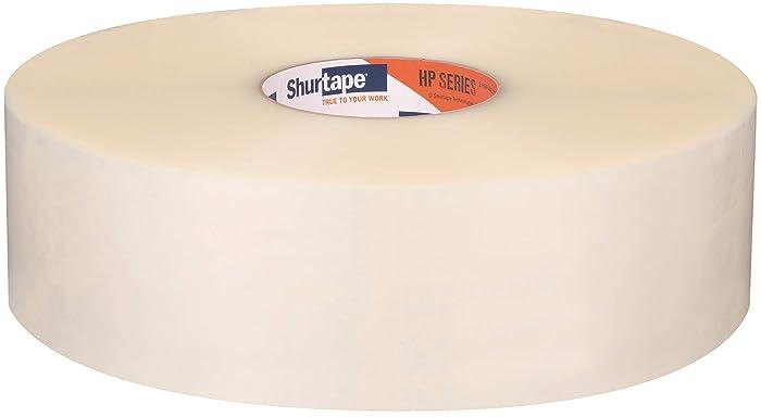 Shurtape HP 100 General Purpose Grade Hot Melt Packaging Tape, 72mm x 914m, Clear, Case of 4 Rolls (208465)