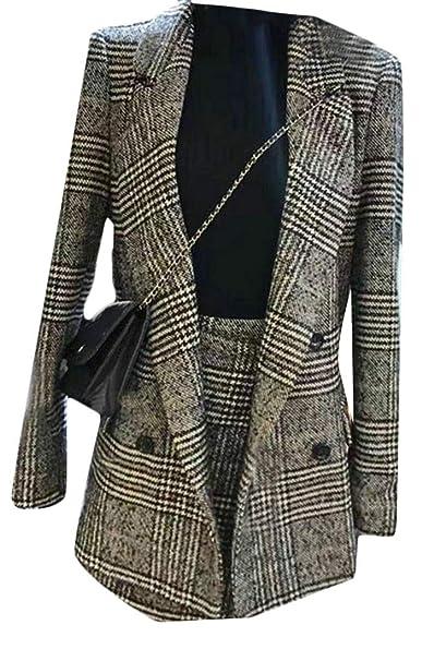 Amazon.com: Bigbarry - Conjunto de chaqueta para mujer con ...