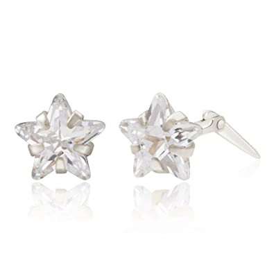Sterling silver 5mm star Andralok stud earrings / Gift box UPORK1rs