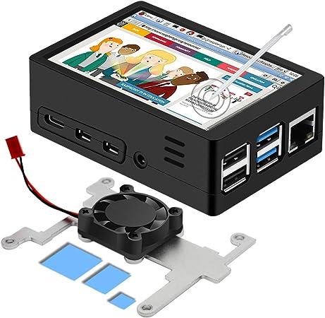 Iuniker Raspberry Pi 4 Gehäuse Raspberry Pi Gehäuse Computer Zubehör