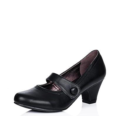 SPYLOVEBUY ISADORE Damen Mary Jane Blockabsatz Pumps Schuhe Pumps