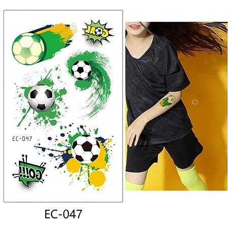 adgkitb 5pcs fútbol niños Tatuaje Temporal Pegatina Colorido Falso ...