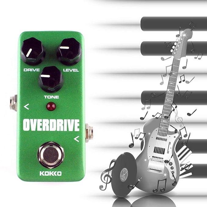 KOKKO FOD3 Mini Overdrive Pedal de efecto de guitarra eléctrica Portátil True Bypass Aluminio Body Tube Overload Guitarra Stompbox de Ballylelly: Amazon.es: ...