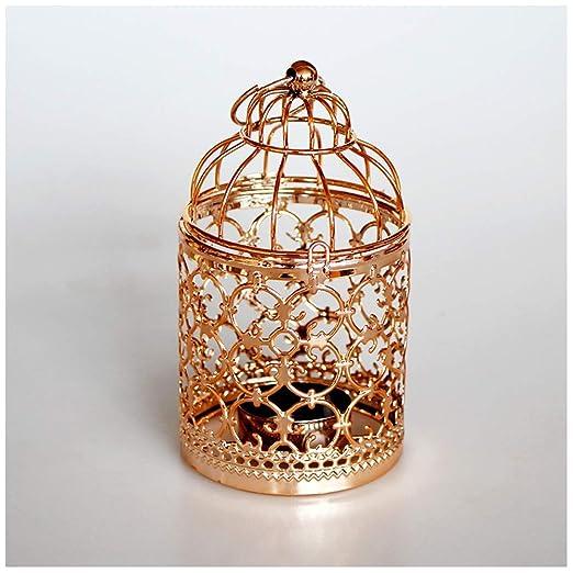 Doitsa candelabro de Metal de Boda diseño de Jaula de pájaros ...
