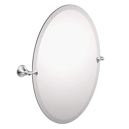 Moen DN2692CH Glenshire 26 x 22-Inch Frameless Pivoting Bathroom Tilting  Mirror, Chrome