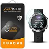 (2 Pack) Supershieldz for Garmin Forerunner 645 and Forerunner 645 Music Tempered Glass Screen Protector, Anti Scratch, Bubbl
