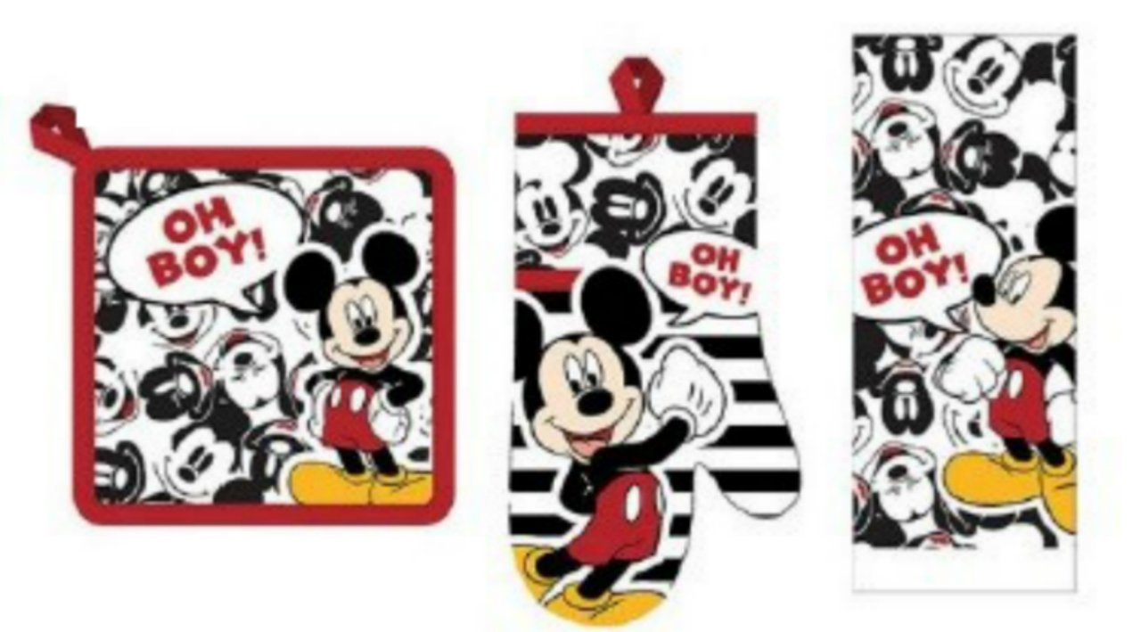 "Disney Mickey Mouse ""Oh Boy! 3 Piece Kitchen Towel Set"