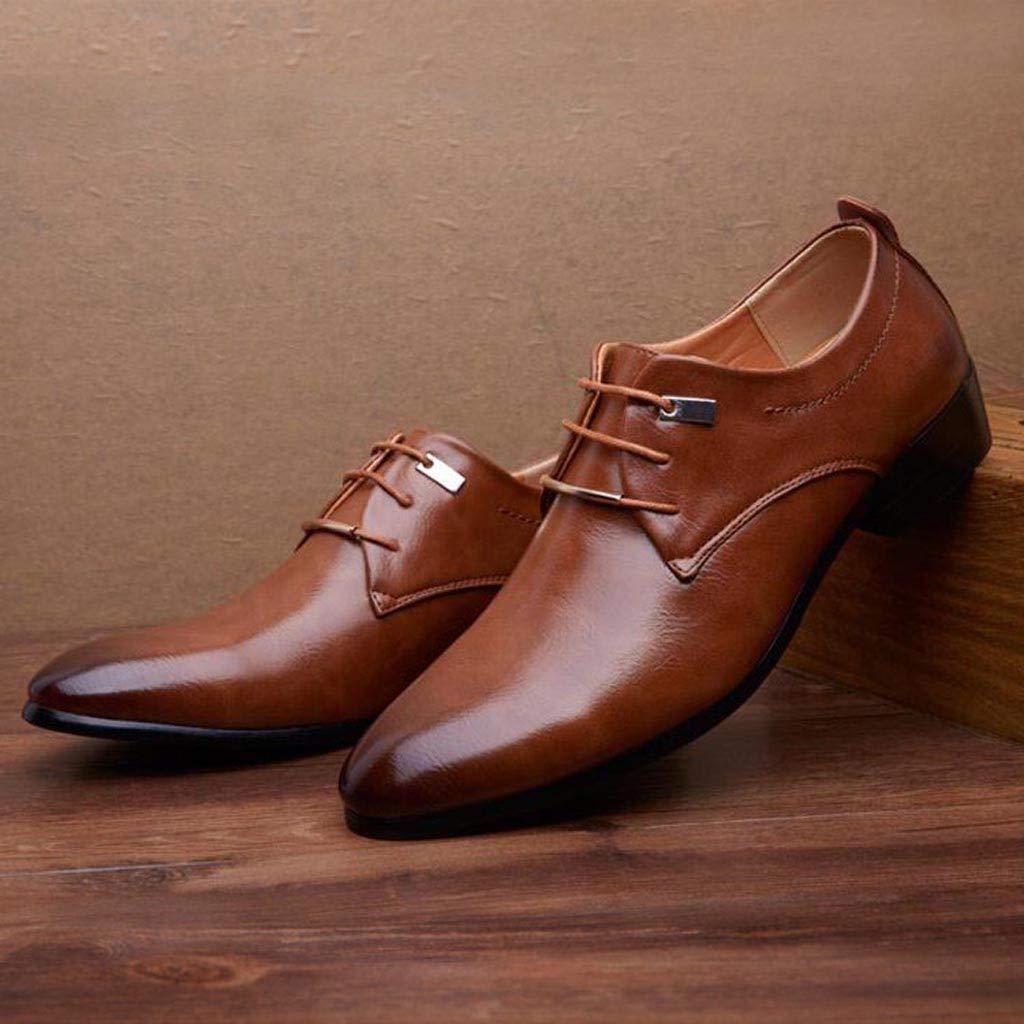 Kaister Chaussures de Mode en Cuir pour Hommes daffaires/Chaussures de Costume d/écontract/é /à Bout Pointu pour Hommes Robe de soir/ée pour Hommes en Cuir