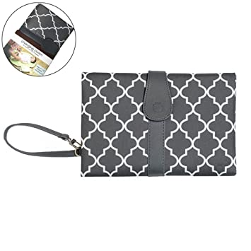 cb2eb32a06b9 Baby Changing Mat Portable Travel Diaper Changing Pad Waterproof Foldable Nappy  Mat - Grey: Amazon.co.uk: Baby