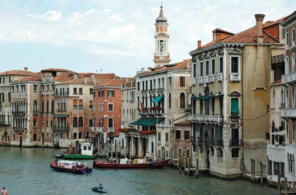 Puzzle De 1000 Piezas Canal Grande Y La Iglesia Chiesa Santi Apostoli Venecia Arte Bricolaje para Adultos Mayores Adultos
