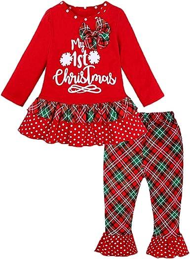 Conjunto De Ropa para Niños De Navidad para Niños Pijamas Algodón ...