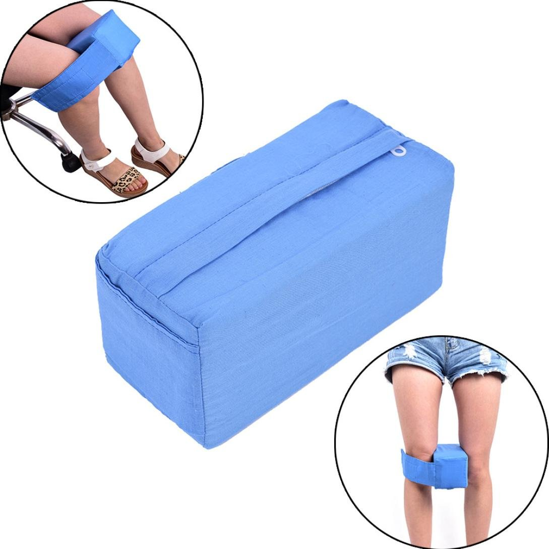 Creazy Knee Ease Pillow Cushion Bed Comfort Sleeping Aid Seperate Back Leg Pain Support (Blue)