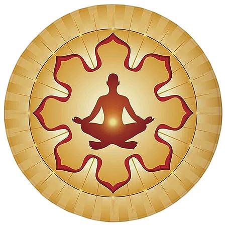Round Rug Mat Carpet,Yoga Decor,Lotus Pose Yoga Meditation ...