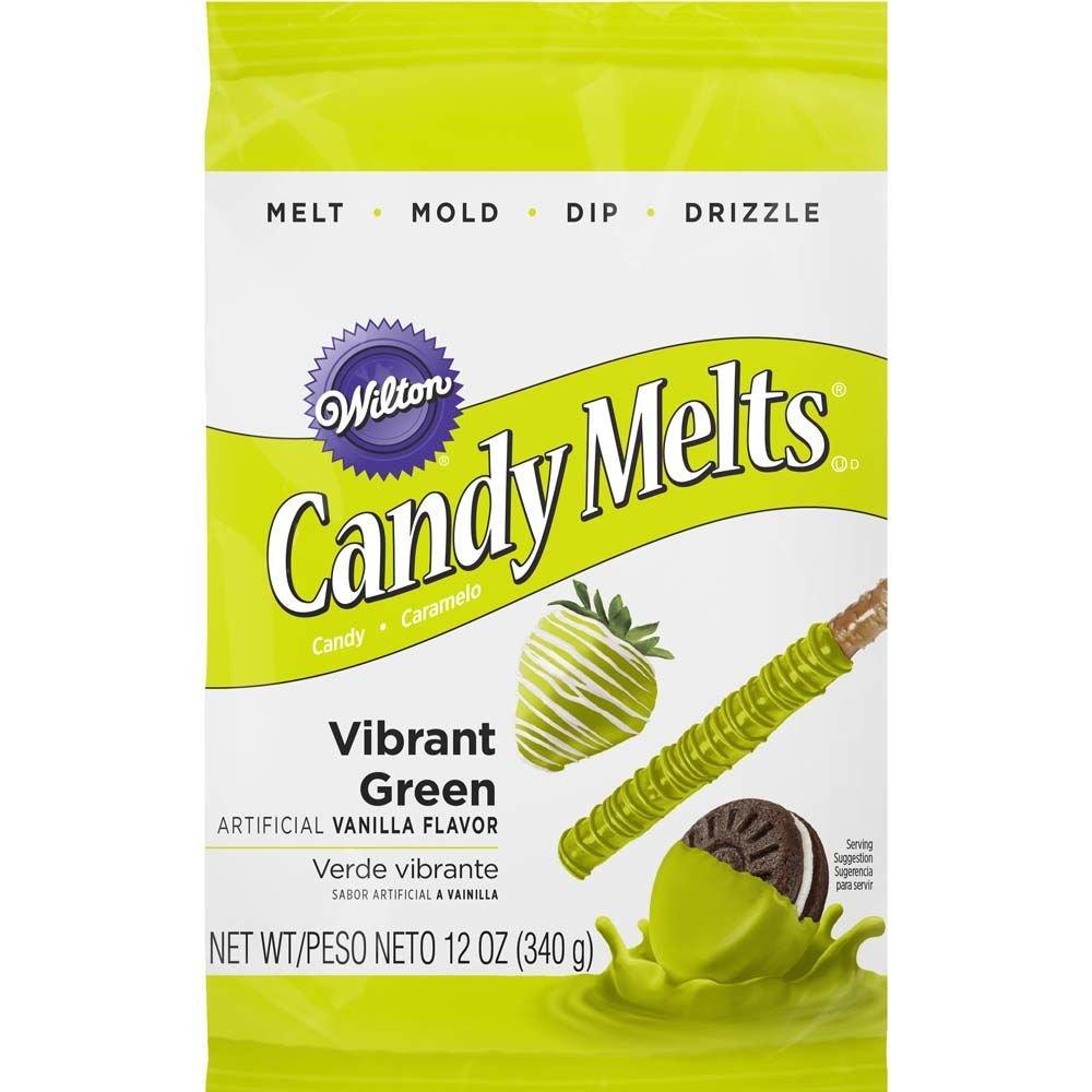 Wilton 1911-421 Candy Melts, 12-Ounce, Vibrant Green