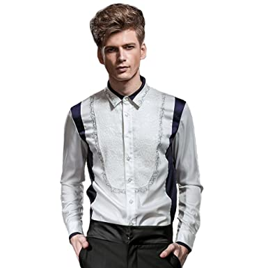 8c8c40e9 FANZHUAN Men Dress Shirts Slim Fit White Non Iron Dress Shirts Men Slim Fit  Mens Dress