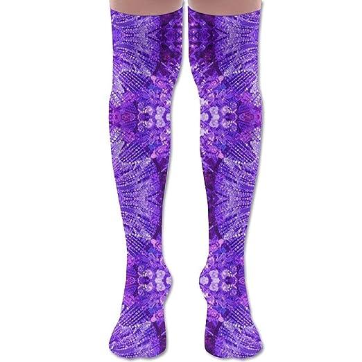 3d899c76bb38 Amazon.com  Glows in The Dark - Purple Youth Soccer Socks Teens Knee ...