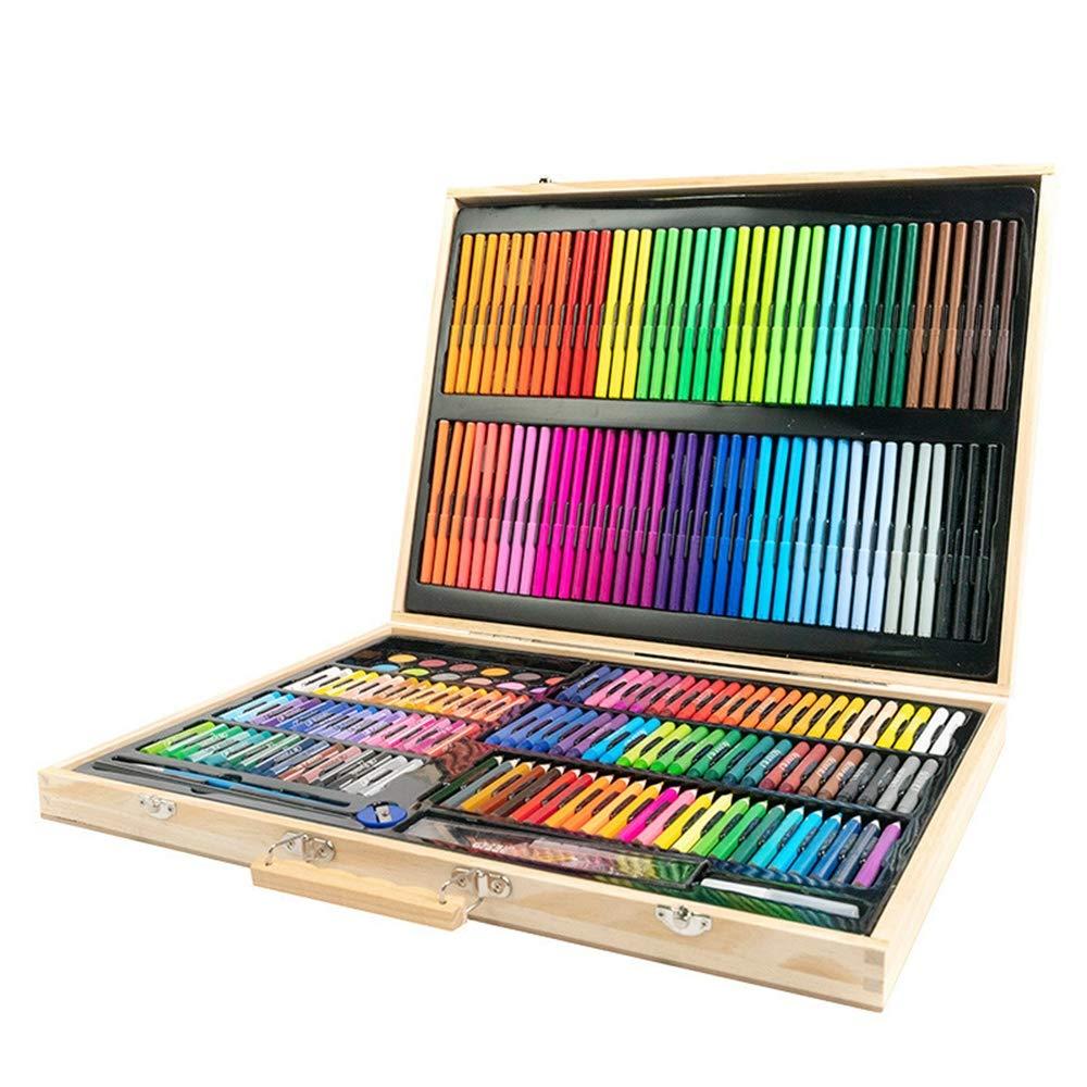 mejor servicio 251 unidades de pintura de de de madera maciza caja de regalo de acuarela pluma conjunto papelería caja de regalo jardín de infantes arte personalizado  vendiendo bien en todo el mundo