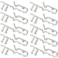 2 inch Hidden Channel Valance Clips for Horizontal Wood Mini Blinds from Shade - 10 Pieces