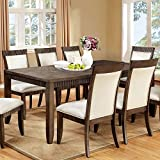 247SHOPATHOME IDF-3435T-9PC Dining-Room-Sets, 9-Piece, Brown Review