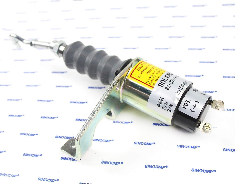 /sinocmp Shut Off Solenoid f/ür Cummins Motor elektrisch Teile 3/Monate Garantie 24/24/V/ 24/sa-3765 Shut Off Solenoid rsv1751/sa3765
