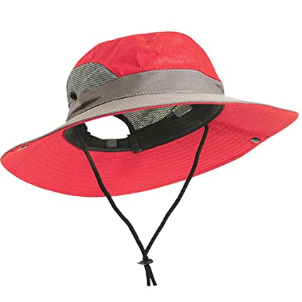 Breathable Boonie Hat Bucket Cap - Unisex Wide Brim Uv Sun Protection  Fishing Mesh Hats Caps 30a511ffebb6