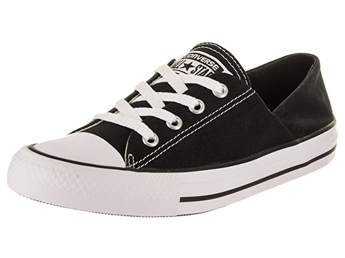 5eb07abdadde Image Unavailable. Image not available for. Colour  Converse Womens Chuck  Taylor Coral Ox Black White Canvas Trainers ...