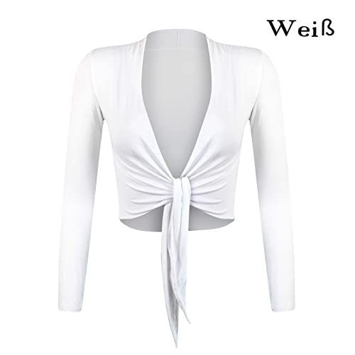 Glamexx24 - Elegante bolero de punto de manga larga para mujer