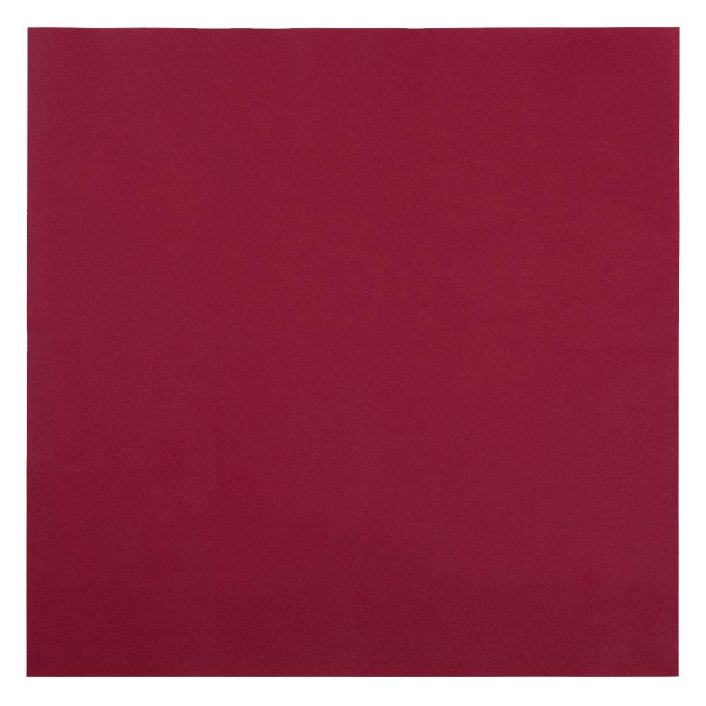 Hoffmaster 125030 Linen-Like Color In Depth Flat Pack Napkin, 16'' Length x 16'' Width, Burgundy (Case of 500)