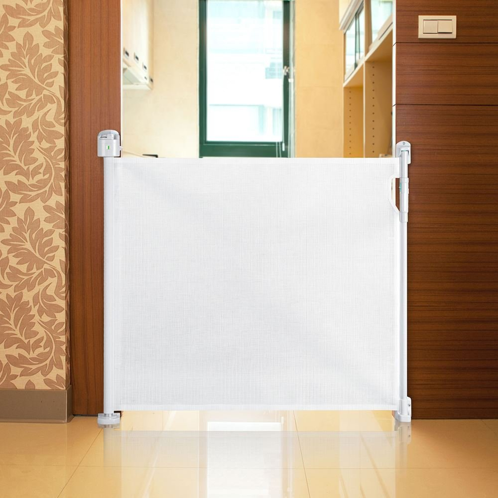 safetots advanced retractable safety gate white cm  cm  - safetots advanced retractable safety gate white cm  cm amazoncoukbaby