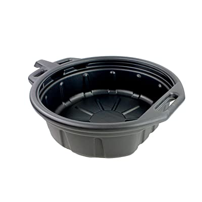 Capri Tools CP21024 Portable Oil Drain Pan, 2 gallon, Black: Home Improvement