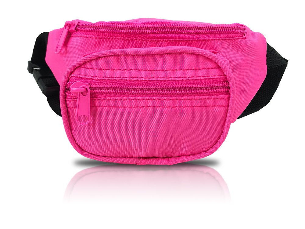 Nineteen80something Fanny Pack For Children/Kids Size Waist Bag/For Boys, Girls, Toddlers And Babies (Neon Pink)