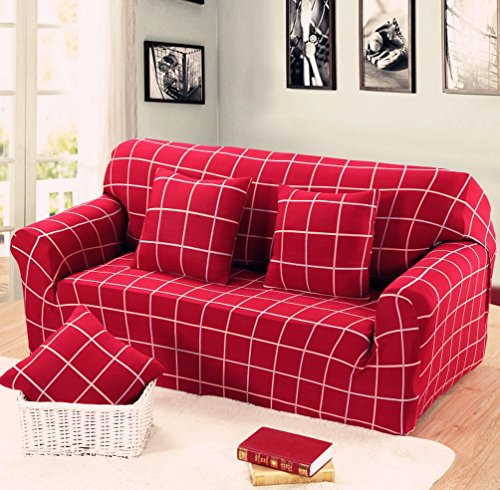 AbbeyTening Red Plaid Sofa Slipcover Sofa Covers Chair Cover