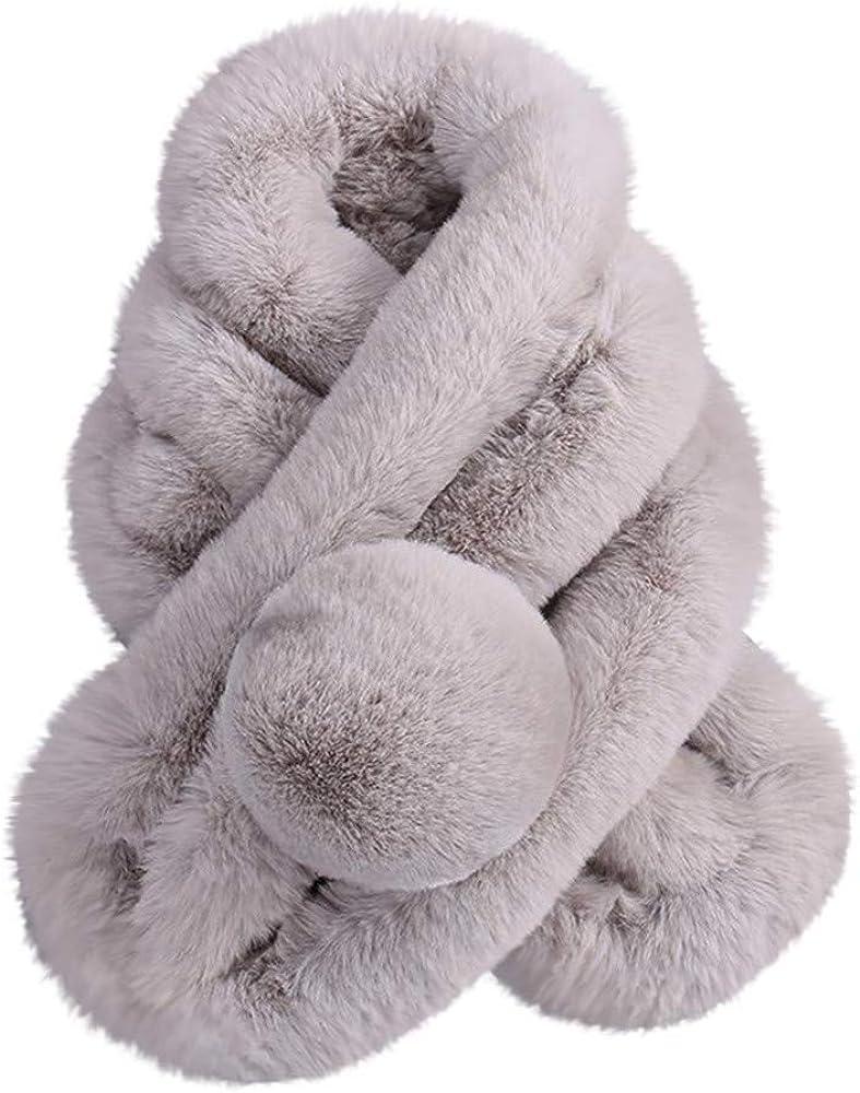 Shimigy Women Winter Warm Scarf Fashion Thicken Fur Imitation Fur Grass Scarves