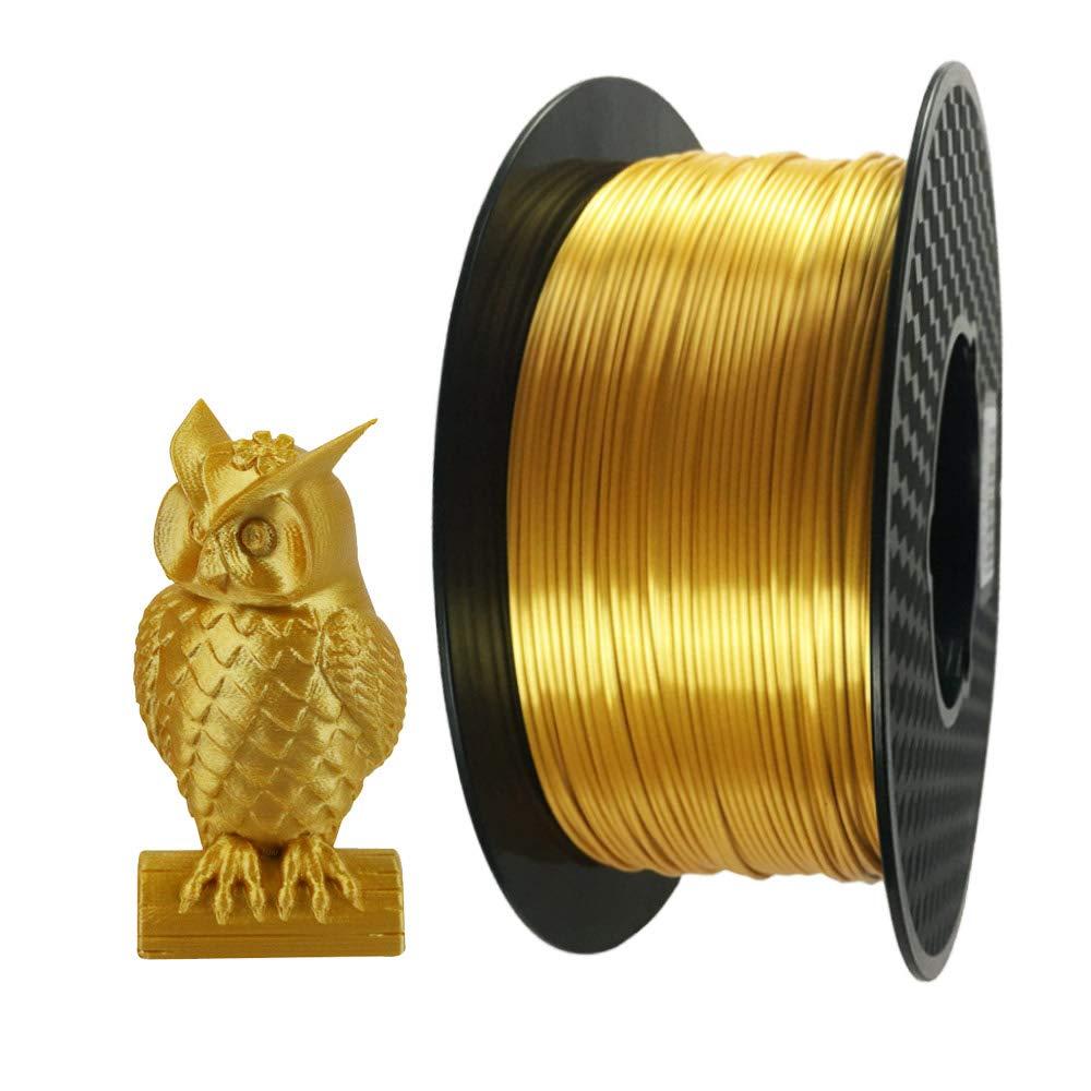 3d Printer Filament >> Amazon Com Silk Gold 3d Printer Pla Filament 1 75 Mm 1 Kg 2 2 Lbs