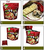 Korean Military MRE Ramen Spicy Seafood Noodle Soup with Rice 120g/3pack