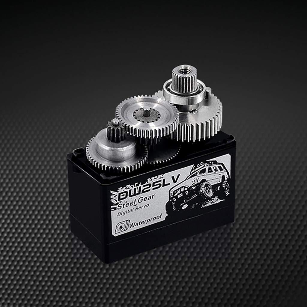 DDLmax RC Car Accessories, Power HD DW-25LV 25Kg High-Speed Voltage Metal Gear Servo Waterproof for 1/10 RC by DDLmax (Image #3)