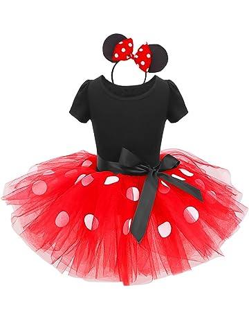 83f6c70e5436e OBEEII Bébé Fille Princesse Robe à Pois Polka Dot Enfant Minnie Déguisement  avec Bandeau pour Noël