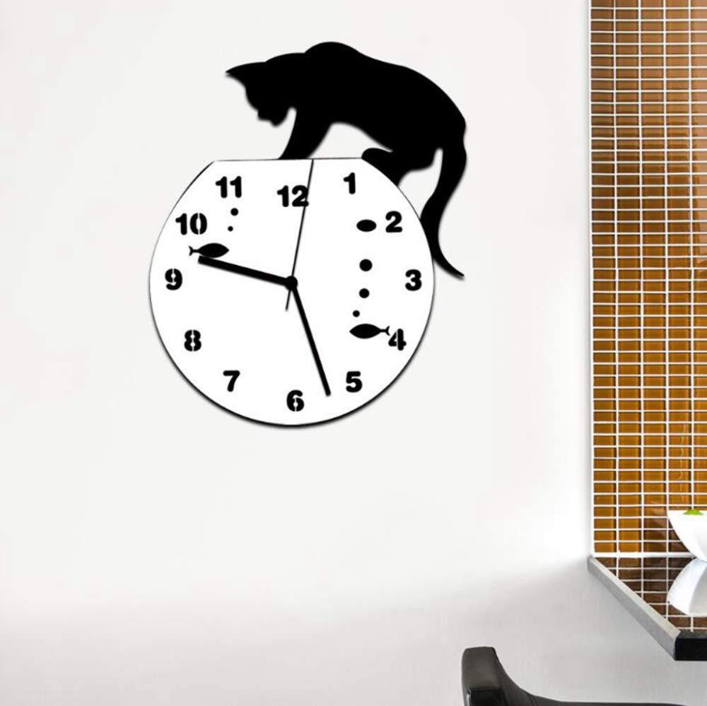 Amazon.com: Daeou Home Decor DIY Mirrors Surface Wall Clocks Round Digital Modern Design 3D Wall Clocks: Home & Kitchen
