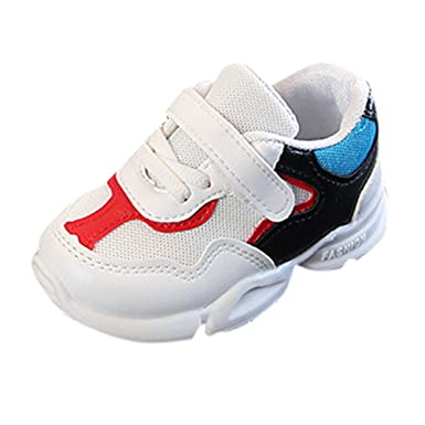 49e7a6ef30731 Elecenty Enfants Chaussures de Sport Sneaker Basses Basket Mode Mixte Bébé  Chaussures en Maille Sport Running